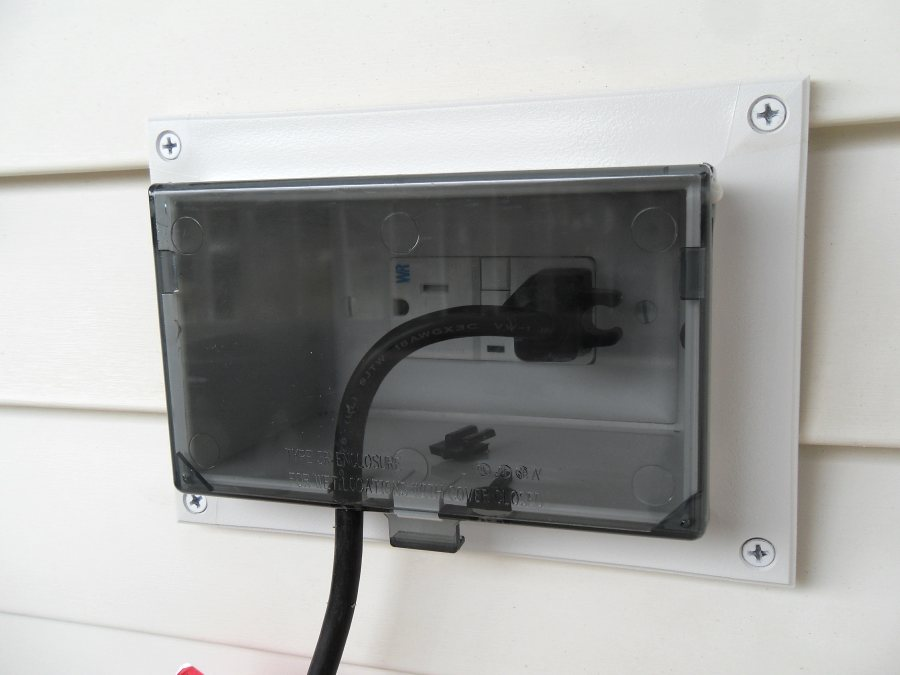The convenience of recessed outlets southern chester county electric for Exterior electrical outlet box