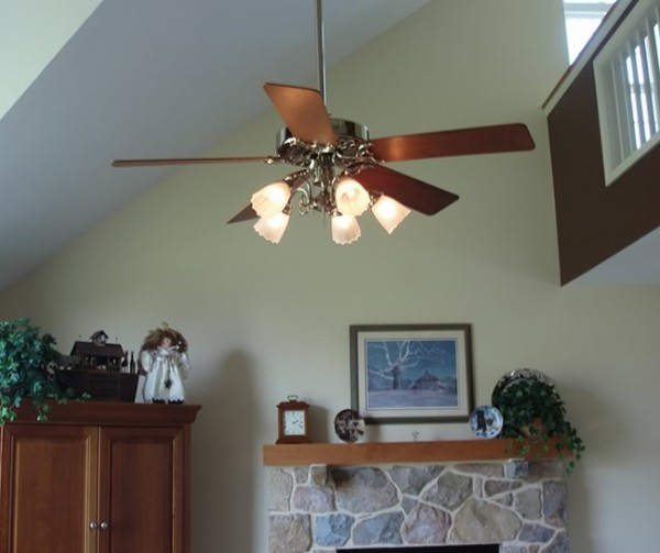 This is the original hunter style ceiling fan installed in a home in Oxford, PA