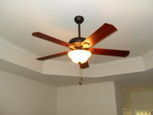 Ceiling fan installed in master bedroom in Landenberg, Chester county, PA