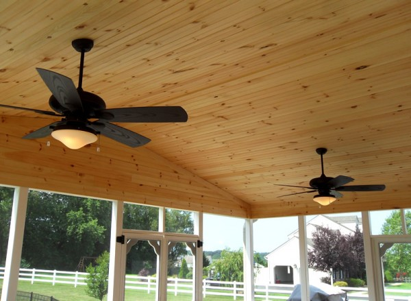 These Two Monte Carlo Outdoor Fans Were Installed On A Screened In Back Porch Lincoln University Pa