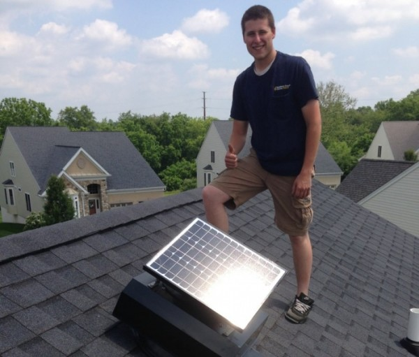 attic fan installation solar