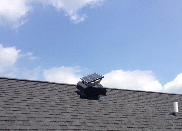attic fan installation solar2