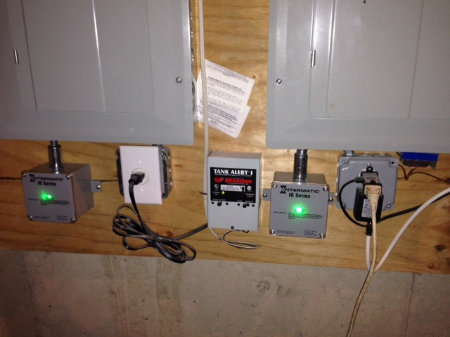 Two Intermatic Whole House Surge Protectors model #IG1240RC3 installed in Landenburg