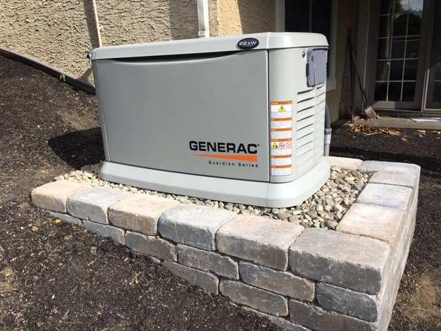 22 kw Generac standby generator unit
